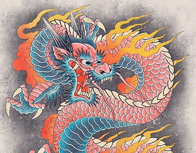 Bubblegum dragon print project
