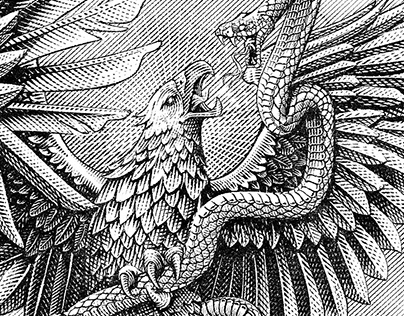 Mexican flag eagle