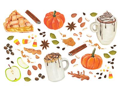 Cozy Fall Food Watercolors, Crazy Rumors packaging