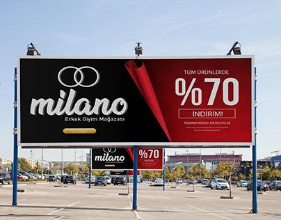 Milano Erkek Giyim Mağazası Billboard
