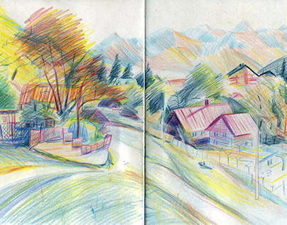 Sketches from last year's trip to Krasnaya Polyana, Soc