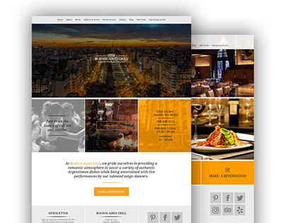 Diseño web para Buenos Aires Grill, Seattle