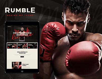 Rumble | Boxing & Mixed Martial Arts WP Theme!