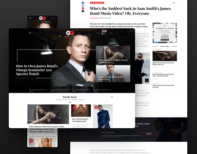 GQ Online Redesign Concept