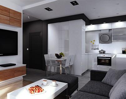Small studio apartment in Katowice