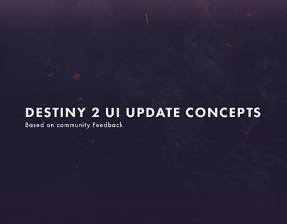 Destiny 2 QoL UI Concepts