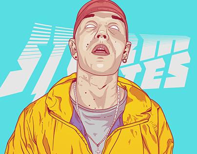 Ilustração Costa Gold | Rap Brazil