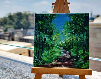 Miniature Canvas Paintings