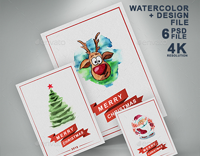 Christmas Greeting Card and Invitation Paper Flyer Mock