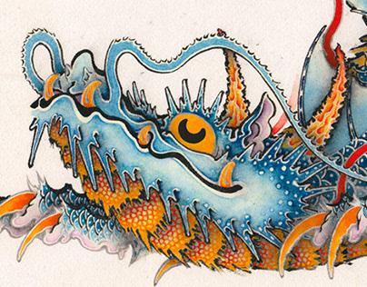 Blue Fin Pleco Dragon