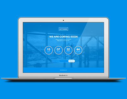 Corporate Coming Soon Free PSD Template