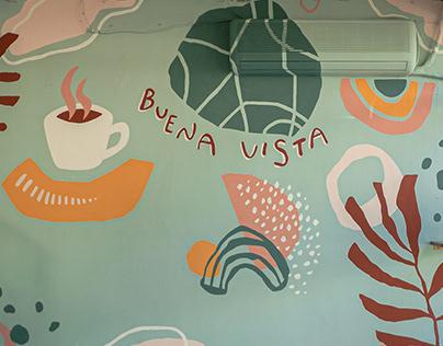 Mural en Cafe Bar BUENA VISTA