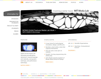 MIT Media Lab web site (out takes)
