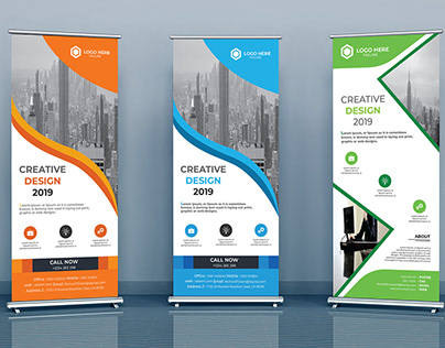 Corporate Rollup Banner Design/ own concept