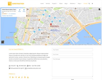 Construction WordPress Theme - Contact