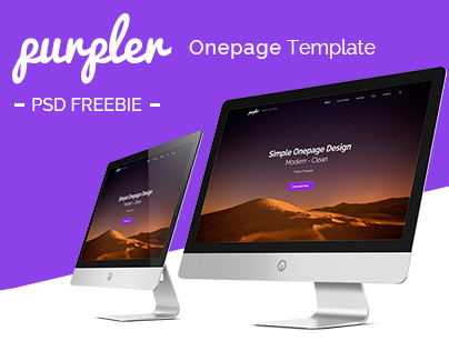 Purpler - Onepage PSD Template (FREEBIE)