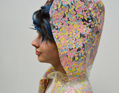 Punched Paper Raincoat