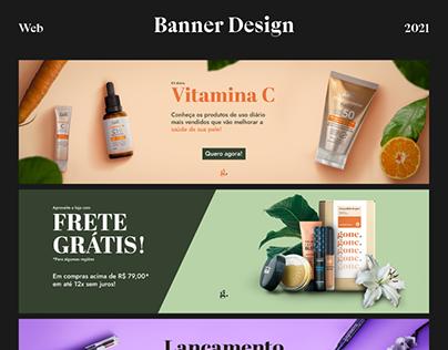 Web banners - Beauty e-commerce