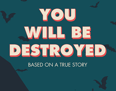 Design de couverture - You will be destroyed
