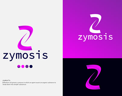 Z letter zymosis modern logo design