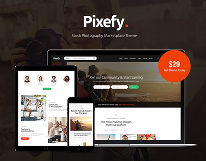 Pixefy | Stock Photography Marketplace Theme
