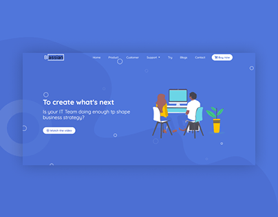 Blassian | Landing Page Design