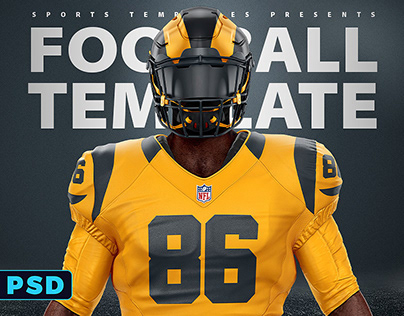 NFL FOOTBALL UNIFORM TEMPLATE MOCKUP V2.0