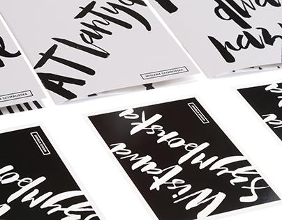 Wisława Szymborska poetry books / postcard / envelope