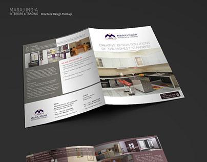 Maraj Interiors Brochure design
