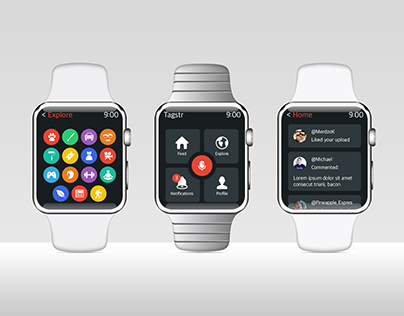 Tagstr Apple Watch UI