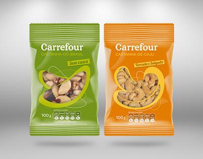 Embalagens Castanhas - Carrefour