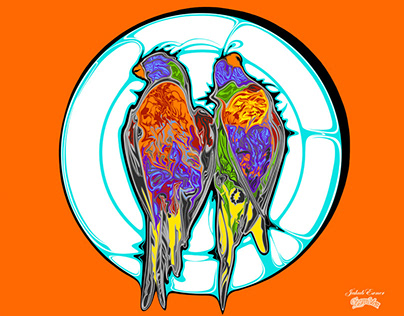 Australian Lorikeet Parrot - Bon Appetit - Smaczenego