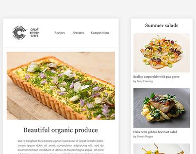 Great British Chefs newsletter