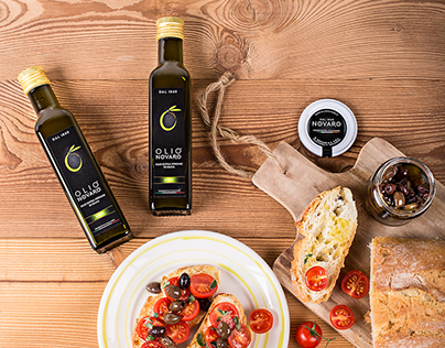 "Product photography for Olive Oil company ""Olio Novaro"""