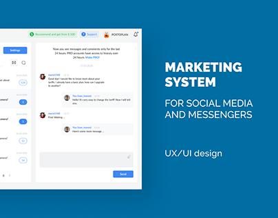 Marketing system   UX/UI design (desktop, mobile)
