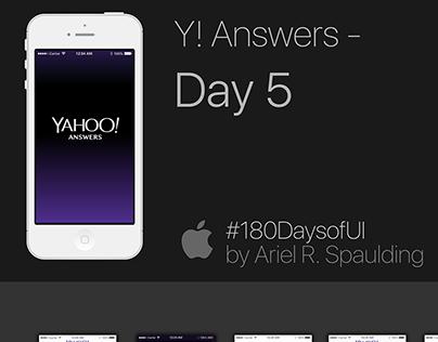 Day 5 - Yahoo Answers - #180DaysofUI