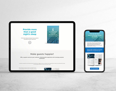 E-book, e-mail marketing & landing pages