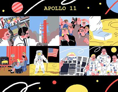 APOLLO 11 MISSION – Illustration