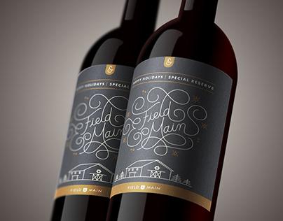 Field & Main Holiday Wine Label