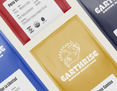 Earthrise Coffee Roasters Brand Identity and Packaging