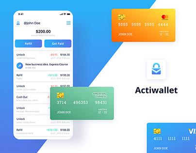 Actiwallet - Mobile/ Web App UX/UI