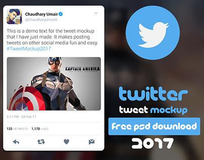 Twitter Tweet Mockup 2017 | FREE PSD DOWNLOAD