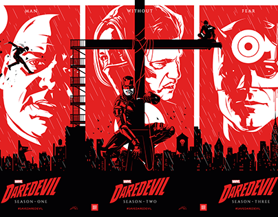 SAVE DAREDEVIL Triptych