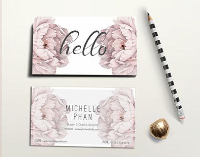 Elegant , modern business card