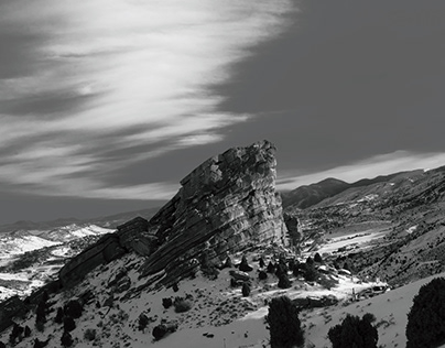 Red Rocks Black and White Exploration