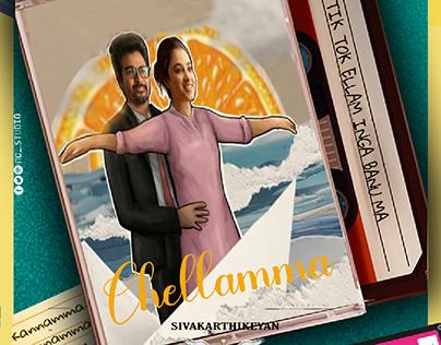 chellamma song poster design