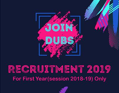 DUBS Member Recruitment 2019