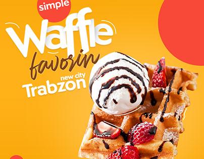 waffle and milkshake