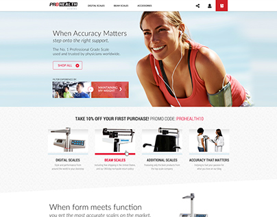ProHealthScales Homepage Concept
