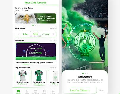 Rca app design, football app ux ui design